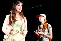 Senior-directed play. Courtney Sanders '13, Mercy Sherman '13. Photo: J. Moore-Coll